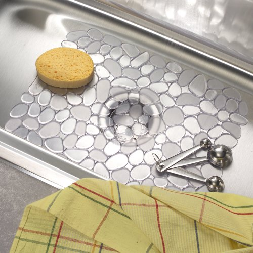 Interdesign Pebblz Kitchen Sink Protector Mat Large Clear New Ebay