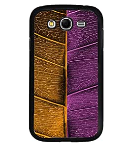 Fuson Premium Bicolored Leaf Metal Printed with Hard Plastic Back Case Cover for Samsung Galaxy Grand 2 G7102 G7106