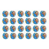 24 Pack - Mini Globe Planet Earth Soft Foam Stress Ball Toy Novelties - (2.5