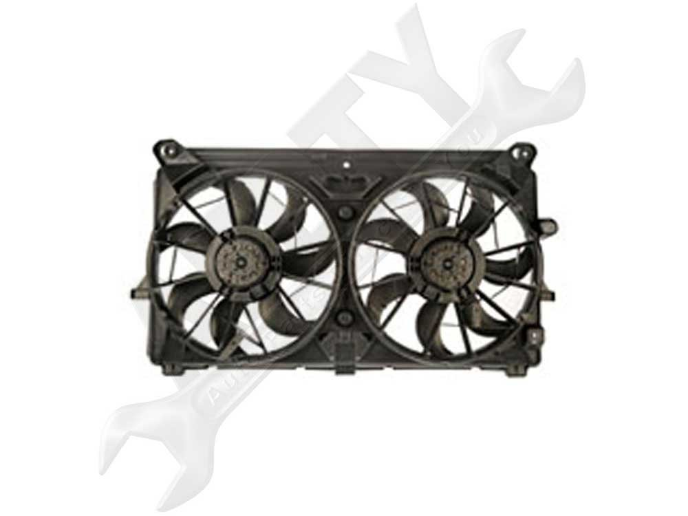 APDTY 731765 Dual Radiator & AC Condenser Cooling Fan Assembly new radiator cooling fan clutch for bmw 535i 735i 735il m3 m5 z3 11527831619