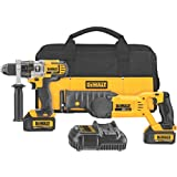 DEWALT DCK292L2 20-Volt MAX Li-Ion 3.0 Ah Hammer Drill and Reciprocating Saw Combo Kit