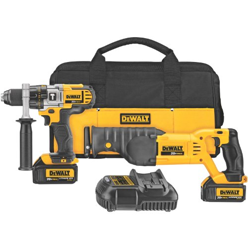 Best Review Of DEWALT DCK292L2 20-Volt MAX Li-Ion 3.0 Ah Hammer Drill and Reciprocating Saw Combo Ki...