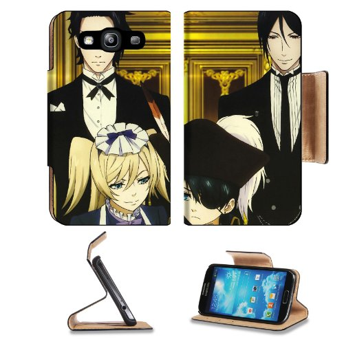 Kuroshitsuji Black Butler Group Collection Samsung Galaxy S3 I9300 Flip Cover Case With Card Holder Customized Made To Order Support Ready Premium Deluxe Pu Leather 5 Inch (132Mm) X 2 11/16 Inch (68Mm) X 9/16 Inch (14Mm) Liil S Iii S 3 Professional Cases