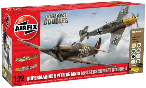 Airfix A50135 Modellbausatz Dogfight Double Spitfire 1A/BF 109E