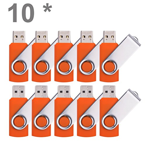 Enfain 4GB USB Flash Drive Pack of 100, Orange