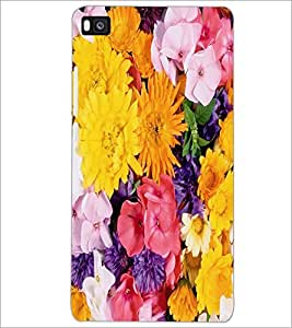 PrintDhaba Flowers D-2420 Back Case Cover for HUAWEI P8 (Multi-Coloured)