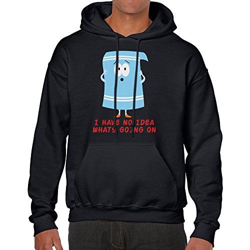 Towelie South Park Cartoon Hoodie unisex shirt (X-Large, Black) (South Park Towelie)
