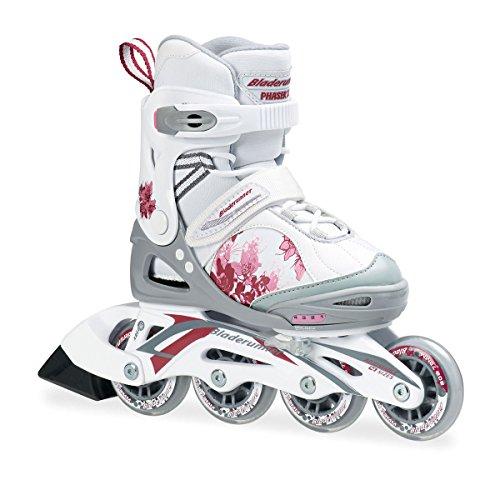 Bladerunner - Pattini rollerblade XR con 4 ruote allineate, colore: bianco/rosa, misura UK 13, Multicolore (bianco/rosa), Taglia 10-13