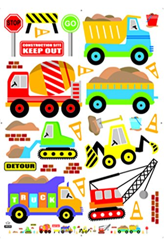Damara Funny Cartoon Cars Trucks Wall Stickers Children Room Decor - 1