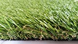 """Zen Garden Deluxe, Premium Synthetic Grass Rubber Backed with Drainage Holes, Blade Height 1.6"""" (40mm), 91 oz/sq. yard, 8 ft x 5 ft"""