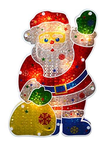Santa Claus Christmas Window Silhouette