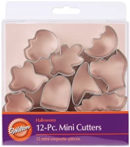 Wilton 12-Piece Mini Halloween Cookie Cutter Set