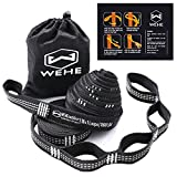 WEHE Hammock Straps Extra Strong & Lightweight,36 Loops, 2000LBS Breaking Strength,100% No Stretch Polyester,Tree Friendly,Quick&Easy Setup Best Suspension System (Color: white)