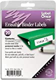 Jokari Label Once Erasable Binder Labels Refill Pack, 20-Count