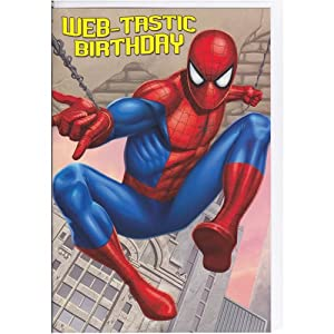 Marvel Spiderman Web Tastic Birthday Card - General Ope