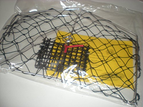 Crab trap net with bait holder fish with your fishing for Fishing pole crab trap