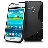Samsung Galaxy S3 Mini i8190 Black S Line Silicone Grip Series Wave Gel Case Skin Cover BY MOBILE JOY
