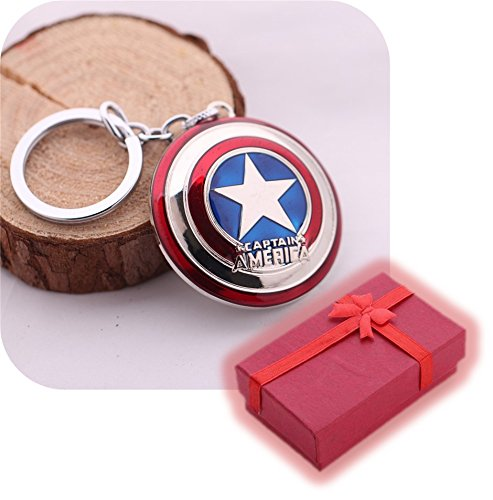 Nido del Bimbo 1000475 - [SCUDO SILVER] Portachiavi Marvel The Avengers Dc Comics Justice League of America Star Wars Film Videogiochi Cartoni Animati Supereroi Fumetti Manga Villians Cattivi Buoni