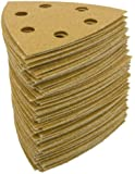 Grizzly H5029 Sandpaper Triangle A80 Hand Length 6 Hole, 100-Piece