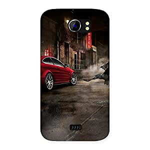 Premium Red Car Impact Multicolor Back Case Cover for Micromax Canvas 2 A110