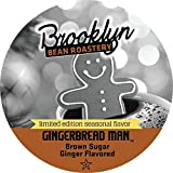 Brooklyn Bean Roastery Gingerbread Man Single Cup Coffee for Keurig K-Cup Brewers, 40 Count