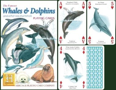 Whales & Dolphins Playing Cards