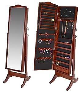 Espejo joyero grande xxl con cajoneras de 154 cm de altura for Espejo joyero xxl