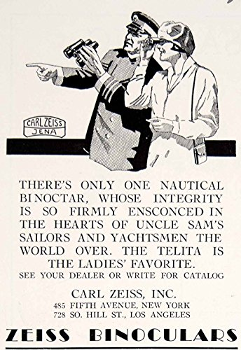 1928 Ad Carl Zeiss Nautical Binoculars Yacht Boat Marine Art Sailing Ship Yym2 - Original Print Ad