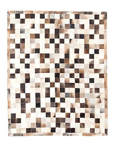 ecarpetgallery Handmade Cowhide Patch Rug, Beige, 6' x 8'