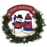 St. Louis Cardinals Team Snowman Christmas Wreath