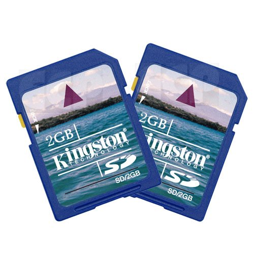 Canon VIXIA HFS11 Camcorder Memory Card 2 x 2GB Standard Secure Digital 1 Twin Pack SD Memory Card