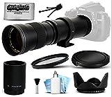 Opteka 420-1600mm f 8.3 HD Telephoto Zoom Lens Bundle Package includes 2X Teleconverter + UV Ultra Violet Filter + Snap On Lens Cap + Tulip Hood + Cap Keeper + Lens Cleaning Kit for Canon EOS 5D Mark II III 2 3 5DM2 5DM3 - 1D Mark 3 4 III IV 1Dx 1D X - Rebel SL1 - T2i - T3 - T3i - T4i - T5 - T5i - 6D - 7D - 60D - 60Da - 70D - 100D - 550D - 600D - 650D - 700D - 1100D - 1200D - Kiss X4 - X5 - X6i - X7i - X50 - X70 DSLR SLR Digital Camera