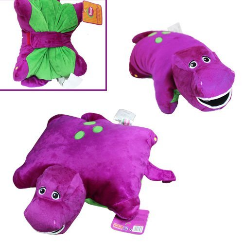 "Barney the Dinosaur 12"" x 12"" Plush Pillow Friend Doll - 1"