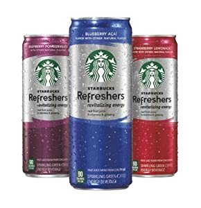 Starbucks Refreshers Variety Pack, 12 Ounce Slim Cans, 12 Pack