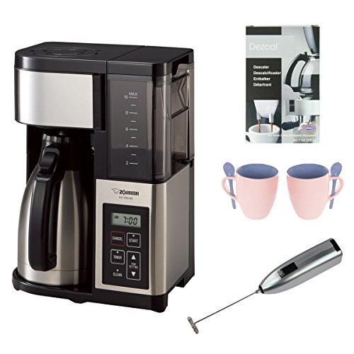 Zojirushi EC-YSC100 Fresh Brew Plus Thermal Carafe Coffee Maker, 10 Cup, Stainless Steel/Black