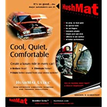 HushMat 10200 Ultra Black Foil Door Kit with Damping Pad - 10 Piece
