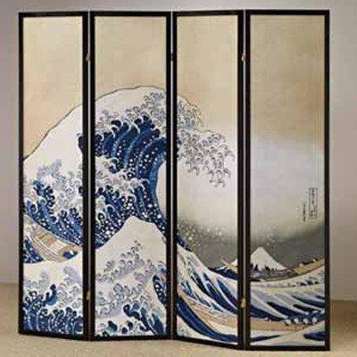 Adf 4 Panel Fukusai Wave Shoji Screen
