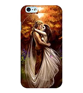 ColourCraft Love Couple Design Back Case Cover for APPLE IPHONE 6S