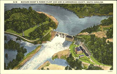 Buzzard Roost'S Power Plant And Dam, Greenwood County Original Vintage Postcard