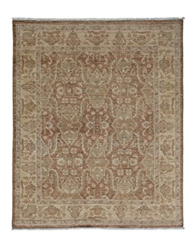Darya Rugs Oushak Hand-Knotted Rug, Silver, 4′ x 4′ 10″