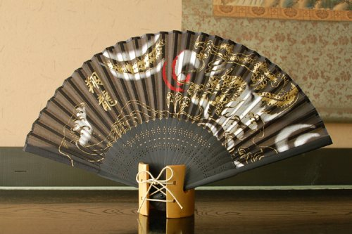 Authentic Japanese Hand Fan - Silk Model: Shouryu