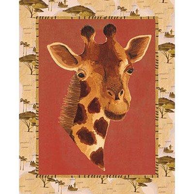 Out Of Africa Giraffe Canvas Art front-883407