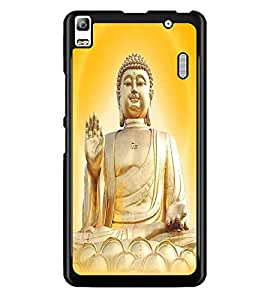 PrintDhaba Lord Buddha D-3306 Back Case Cover for LENOVO K3 NOTE (Multi-Coloured)