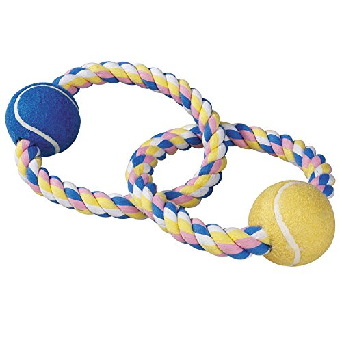 Zanies-Pastel-Rope-Dog-Toys-with-Two-Tennis-Balls