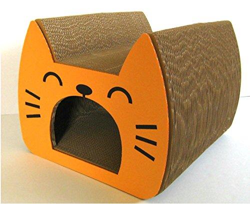 くらふと工房クレアル 猫つめとぎ キャットトンネル オレンジ