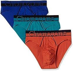 Chromozome Men's Cotton Brief (Pack of 3) (8902733349581_WS 02_Large_Orange, Aquatonic and World Blue)