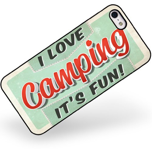 Fun And Unique Mother's Day Gift Idea Guide For Camping Moms - Rubber Case for iphone 5 5s I Love Camping, Vintage design