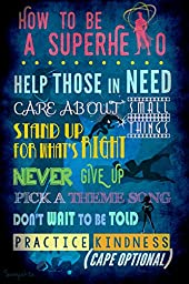 How to be a Superhero Instructional Art Poster