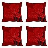 MeSleep Deep Roses Cushion Cover (16x16)