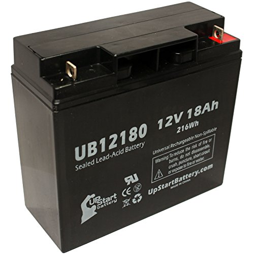 Electric Mobility Rascal Auto Go 370 Battery - Replacement Ub12180 Universal Sealed Lead Acid Battery (12V, 18Ah, 18000Mah, T4 Terminal, Agm, Sla)
